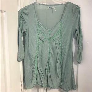 Kimchi Blue XSmall Mint Green Knit Jersey Shirt